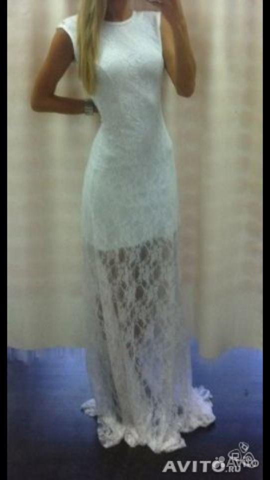 Купить Белое Гипюровое Платье В Пол