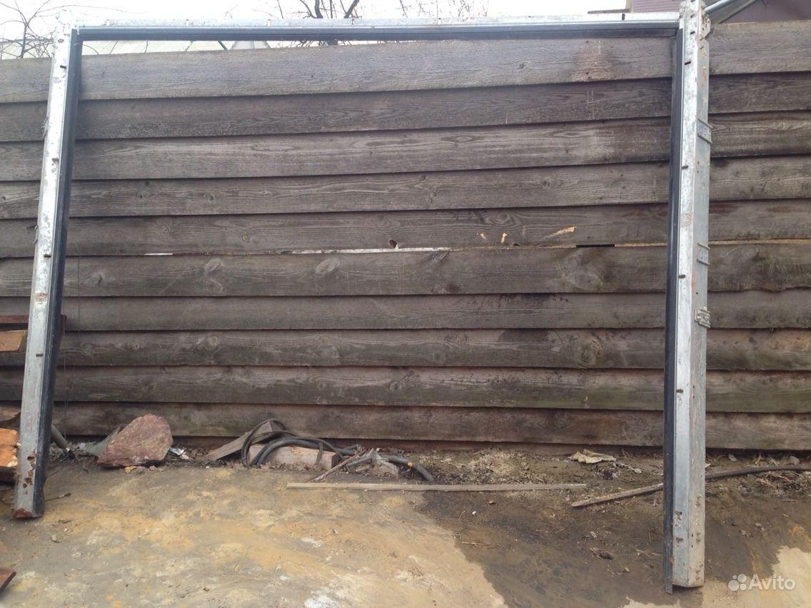 Секционные ворота б у, алютех.  Москва