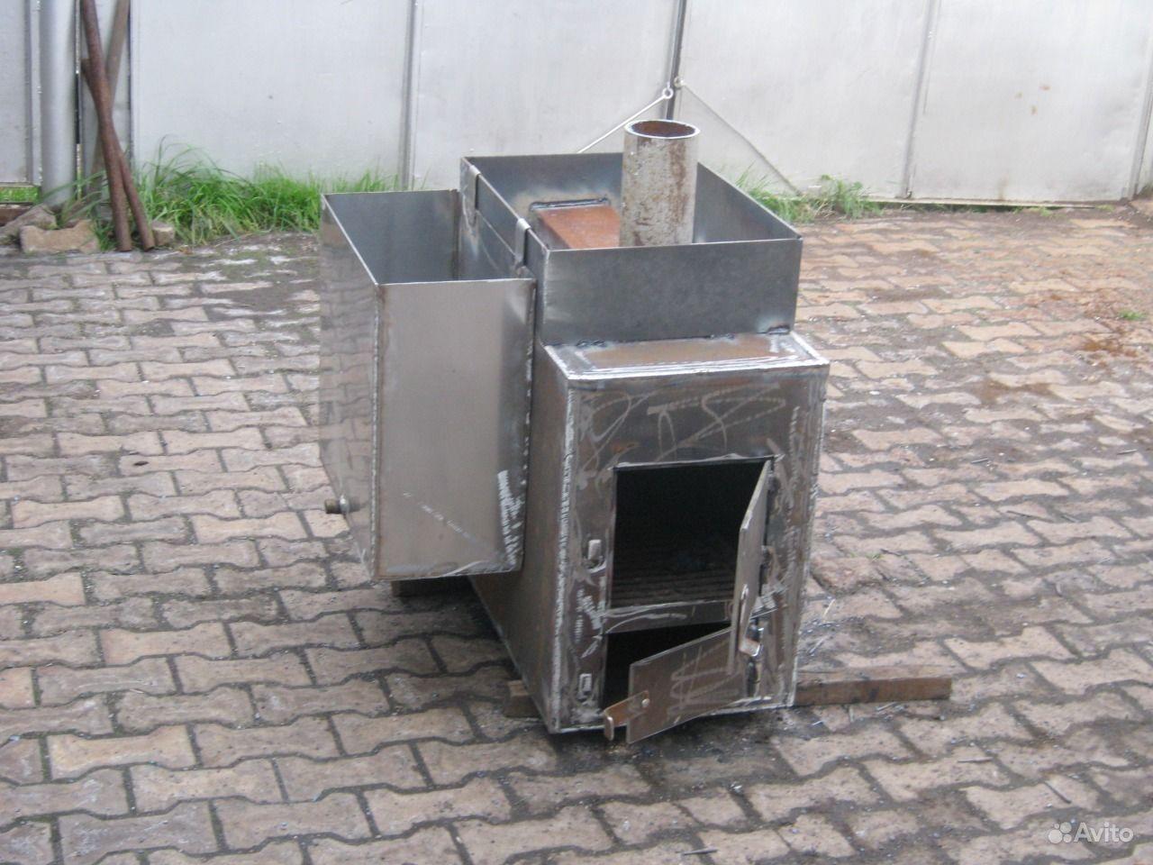 Печка в баню с баком для воды своими руками фото