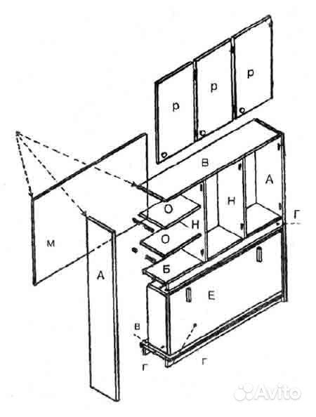 Мебель щитовая чертежи и схемы