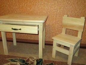 Стол и стул для ребёнка своими руками