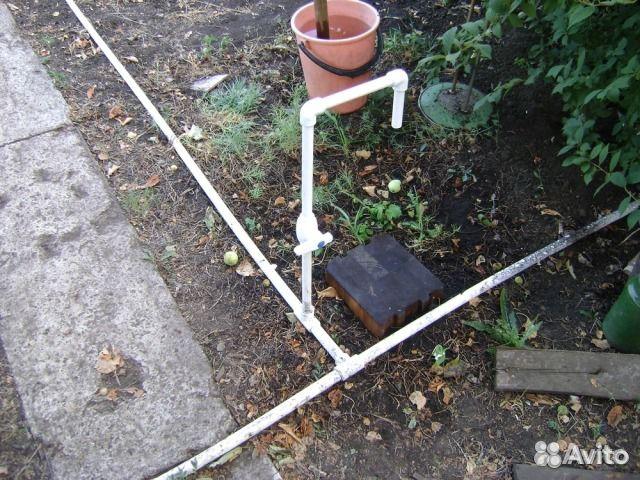 Водоснабжение для полива на даче из труб пнд схема