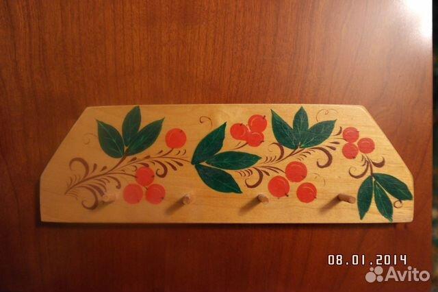 Вешалка для кухонных принадлежностей из дерева