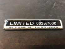 Шильдик от лимитированной Subaru Impreza WRX STI