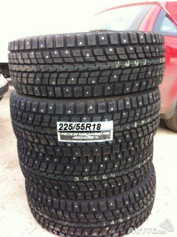 Новые 225/55R18 98T SP Winter ICE 01 шип Dunlop— фотография №1