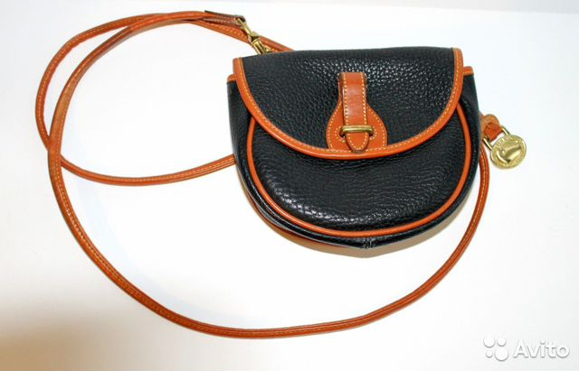 f1ad13b0c5f8 Винтажная кожаная сумка Vintage Dooney and Bourke— фотография №1