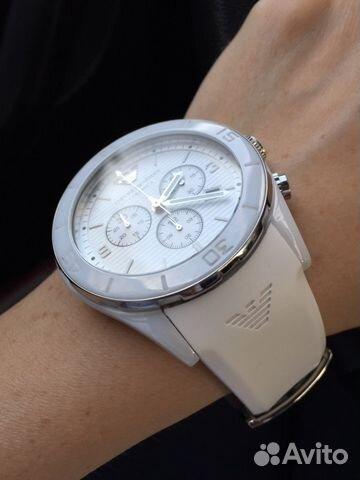 Часы армани женские керамика белые оригинал