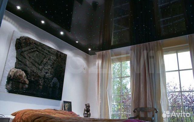натяжные потолки в черно белом стиле фото