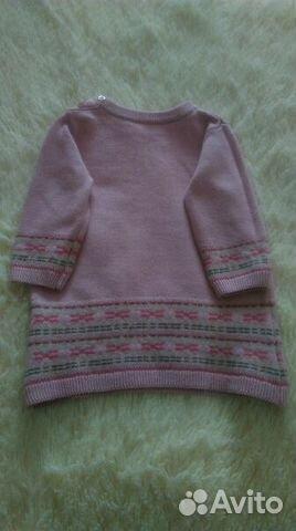 вязаное пальто и теплое платьице для малышки Festimaru
