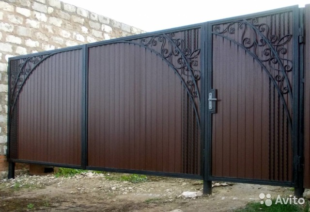 ворота и калитки из профнастила фото пятигорск