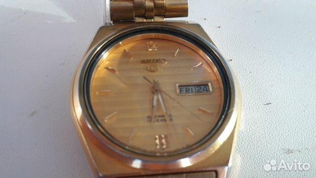 Мужские позолоченные наручные часы Seiko 5 89283211593 купить 7