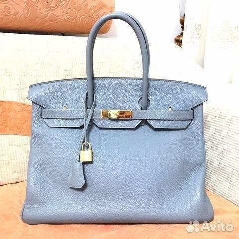 f93405b95d6a Сумка Hermes Birkin 35 Blue Lin Ghw купить в Москве на Avito ...