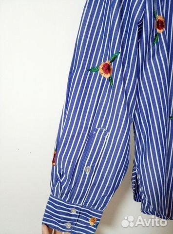 Женская рубашка новая H&M с вышивкой 89062124872 купить 4