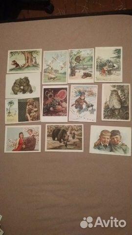 Виде духов, стоимость открыток 50-х годов