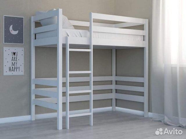 Кровать-чердак 160*80(береза)