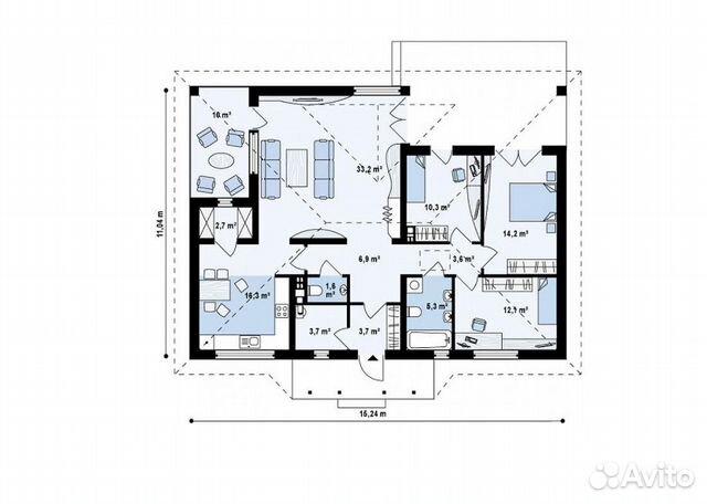Коттедж 144.3 м² на участке 10 сот.  купить 3