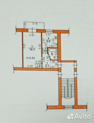 1-к квартира, 31.1 м², 5/5 эт.  89888405567 купить 9