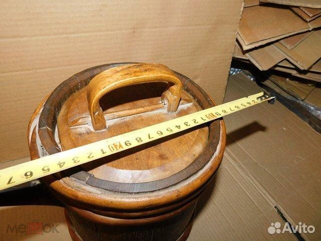 Старинный пивной-квасной дубовый бочонок 4-5 л  89065103360 купить 2