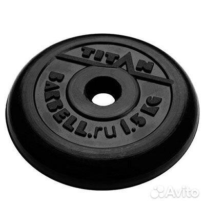 Блин обрезиненный titan Barbell 1,5 кг (d31)  83432135513 купить 1