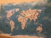 Детская карта мира 1,6х1,1