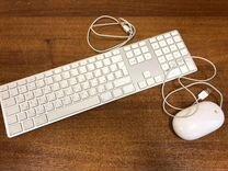 Клавиатура USB Apple MB110 и мышь Apple Mouse