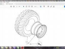Диск колесный задний 15х30 Terex