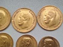 Золотая монета Николай 2