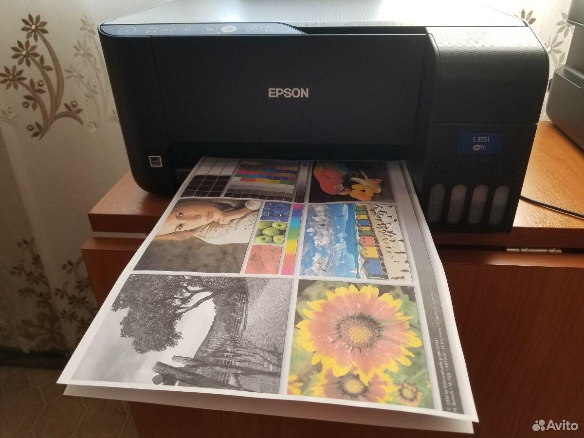 Мфу Epson L3151 снпч, отпечатано всего 300 страни
