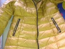 Пуховик р.48 лебяжий пух длина до колена