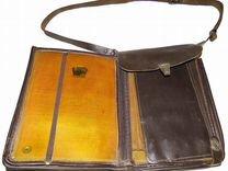 Планшет офицерский кожаный коричневый