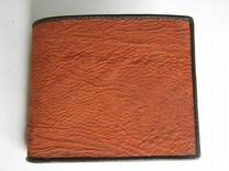 Бумажник из кожи акулы. Ручная работа