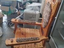 Кресло трон в охотничий дом 2 шт