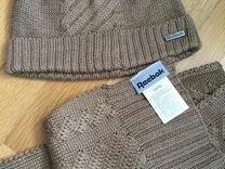 Новый Комплект шапка и шарф Reebok