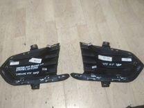 Накладка переднего бампера cadillac xt5